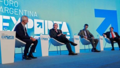 Morales participó de la apertura de Pueblos Solares y Big Data Summit en el Argentina Exporta 2019