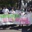 Enfermeros protestaron contra el gobierno por mejoras salariales