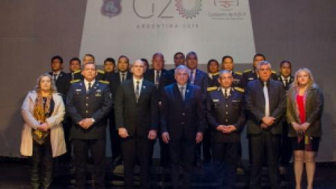 Reconocieron a la Policía de la Provincia por su desempeño en el G-20