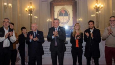 En la noche patria se realizó la reapertura del Salón de la Bandera de la Libertad Civil