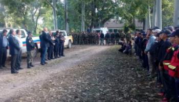 Caso María Machuca: El ministro Meyer y el intendente ledesmense llegaron a la zona de búsqueda